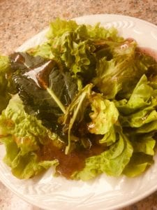Mixed Season Lettuce with a Berry Grenache Vinaigrette Recipe