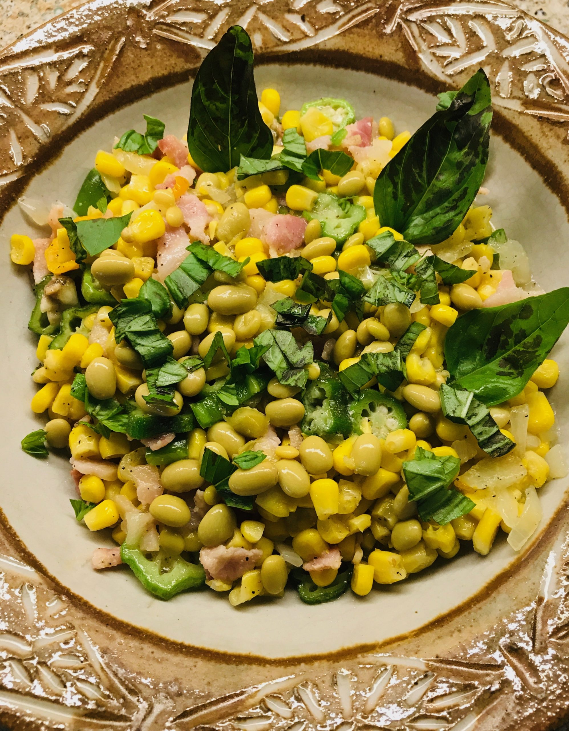 Succotash (The perfect dish for all the vegetables being harvested in The Vineyard District)